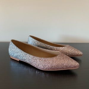 ASOS • Rose Gold Glitter Flats UK 5 / US 7